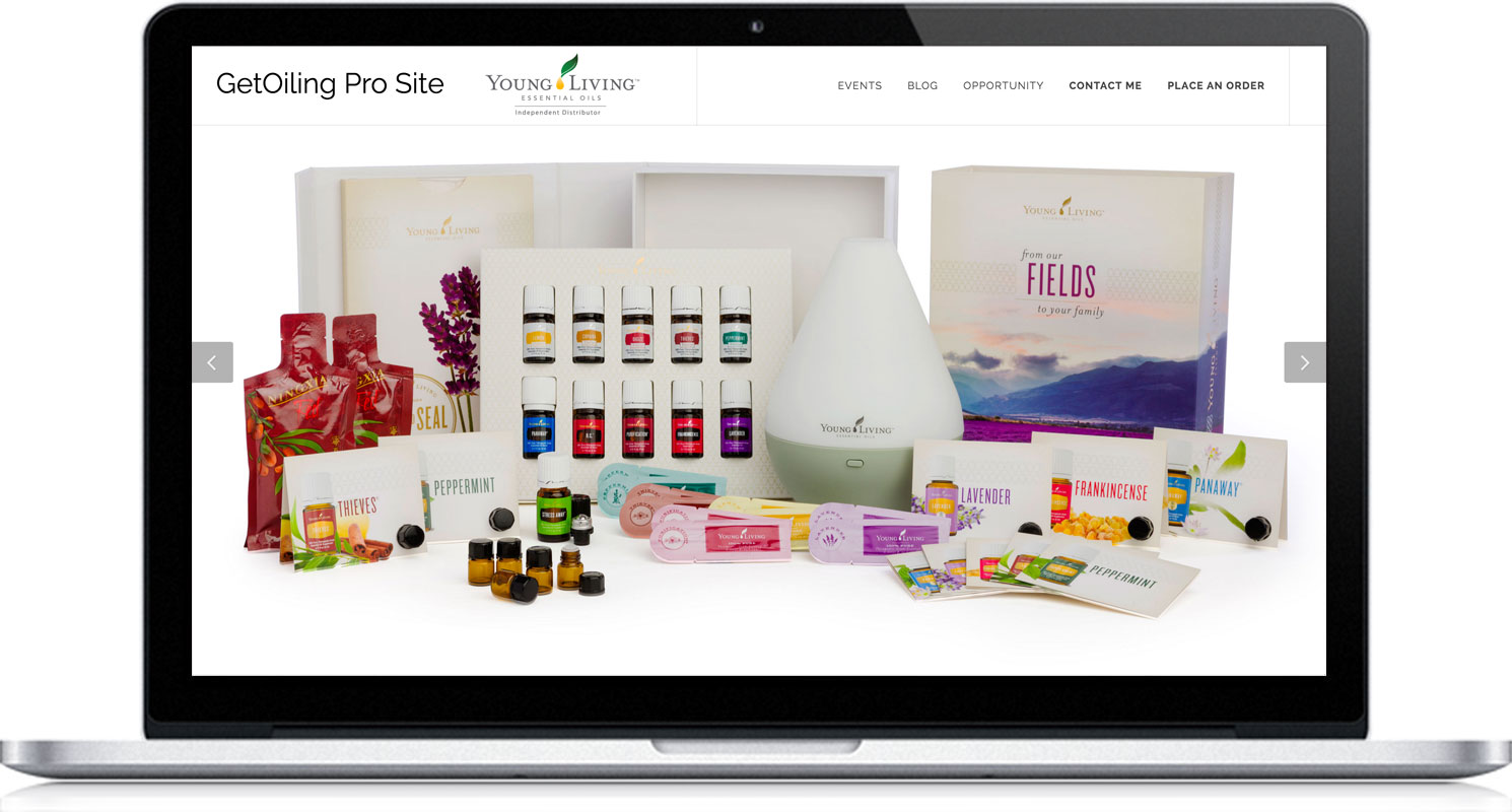 GetOiling Easy, Customizable, Pre-Made Personal Web Sites, Contact Manager, and Email, Text & Picture Marketing for Young Living Distributors